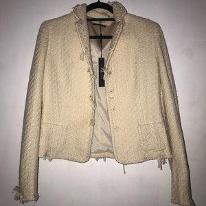 NWT Elie Tahari Wool & Cotton Blazer